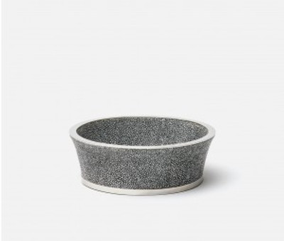 Angelica Round Wine Coaster - Cool Gray/Silver