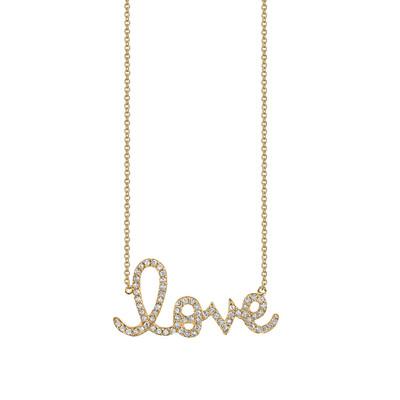 Love Script Pave Necklace - Love