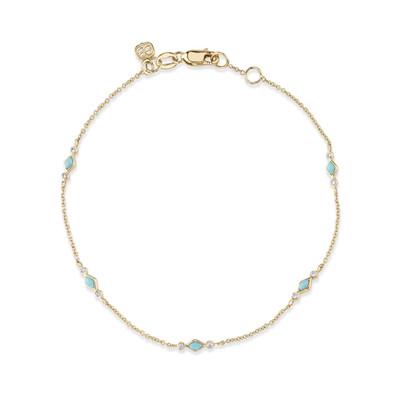 Turquoise Diamond Bezel Bracelet