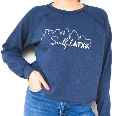 Cropped Fleece Sweatshirt - Soulful ATX
