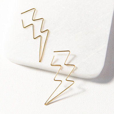 Wire Earring - Lightning Bolt