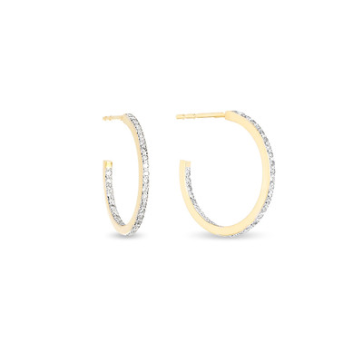 Small Pave Hoops