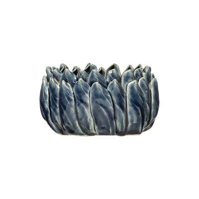 Flower Container - Blue Reactive Glaze