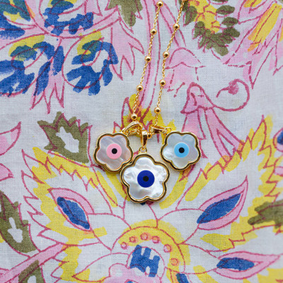 Flower Evil Eye Necklace