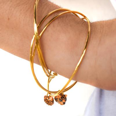Multi Bracelets - Leopard Heads