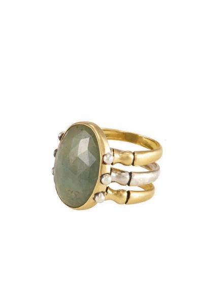 Triad Ring - Green Sapphire - 7