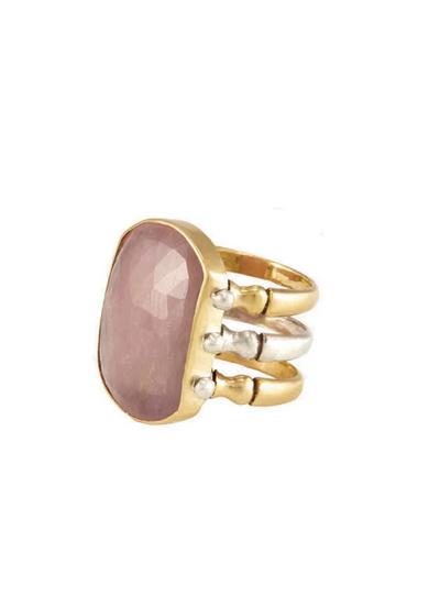 Triad Ring - Peach Sapphire - 6