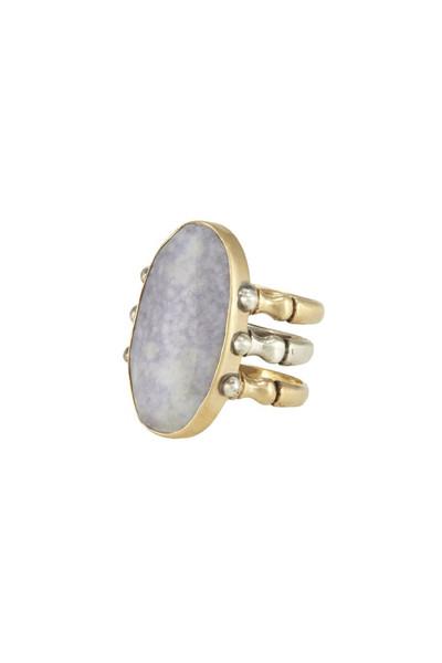 Triad Ring - Lavender Jade - 6