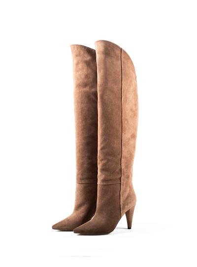 Petra Suede Knee-High Boot