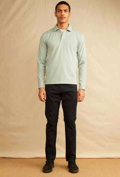 LS Polo - Garment Dye
