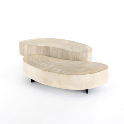 Zion Coffee Table - Bleached Guanacaste