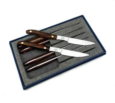 Six Piece Steak Knives - Ironwood