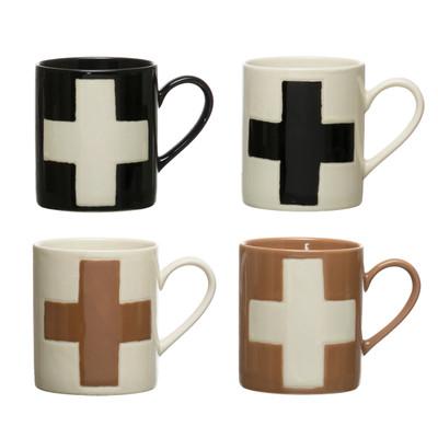 Swiss Cross Wax Relief Mug