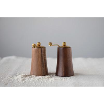 Acacia Wood Salt & Pepper Mill Set