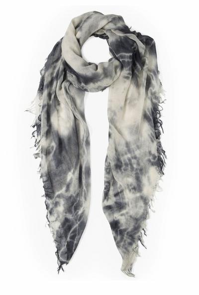 Cashmere + Silk Tie Dye Scarf - Brushed Nickel