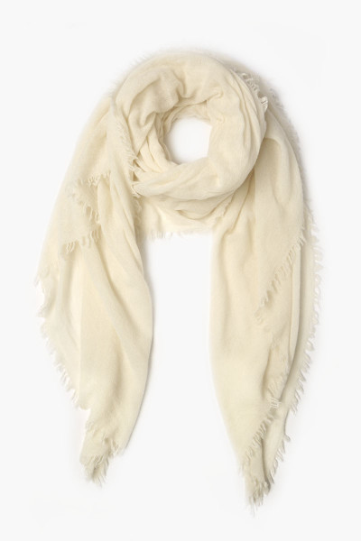 Cashmere Solid Scarf- White