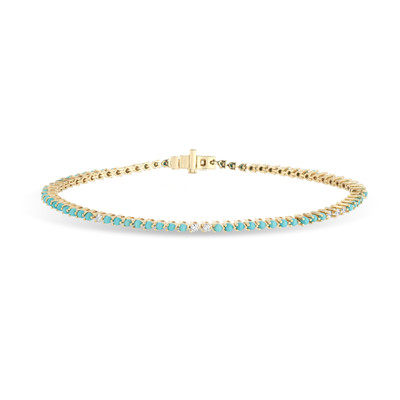 Turquoise + Diamond Tennis Bracelet