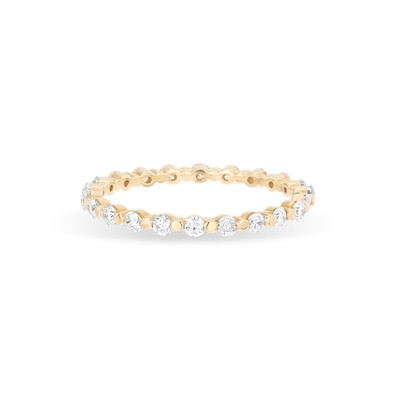 Diamond Shared Prong Eternity Band Ring - 7