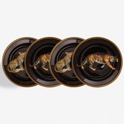 Coasters - Set of 4 - Leopard & Tiger