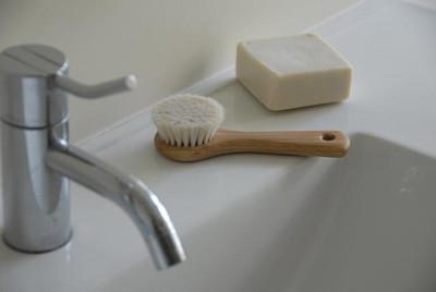 Dry Face Brush - Goat Hair