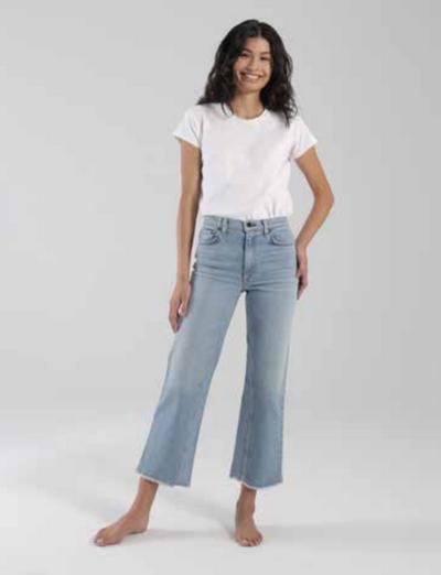 Slim Crop Wide Leg