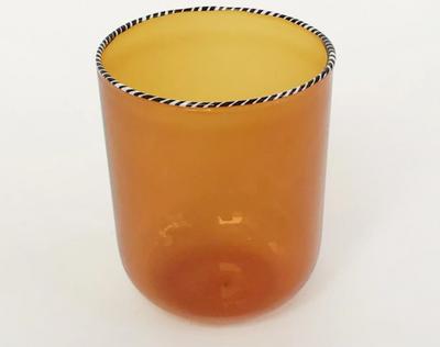 Striped Rim Glass