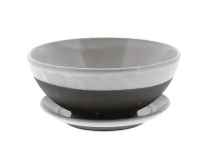 Ceramic Berry Bowl and Saucer