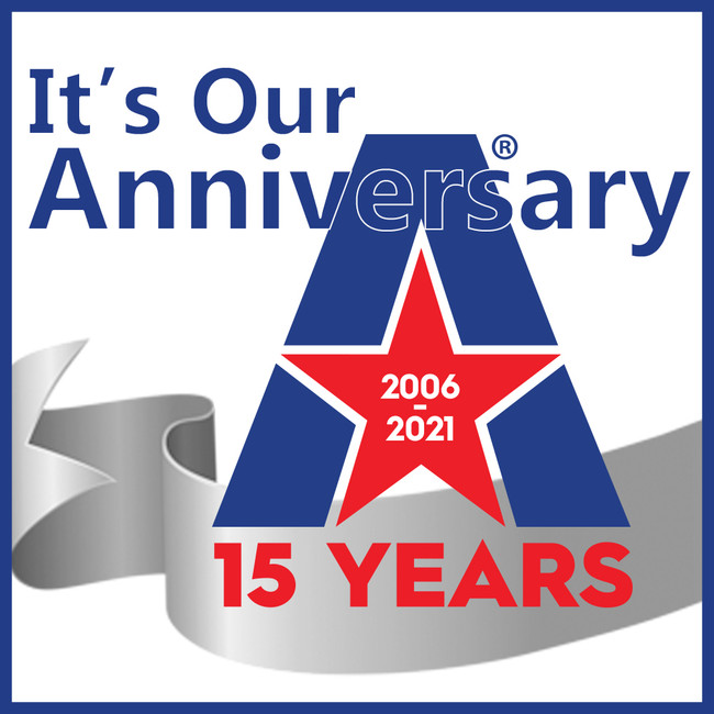 ​We're celebrating 15 years in 2021