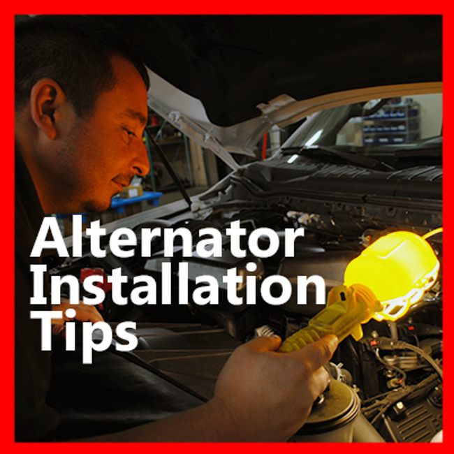 Right the first time: Help with alternator installation