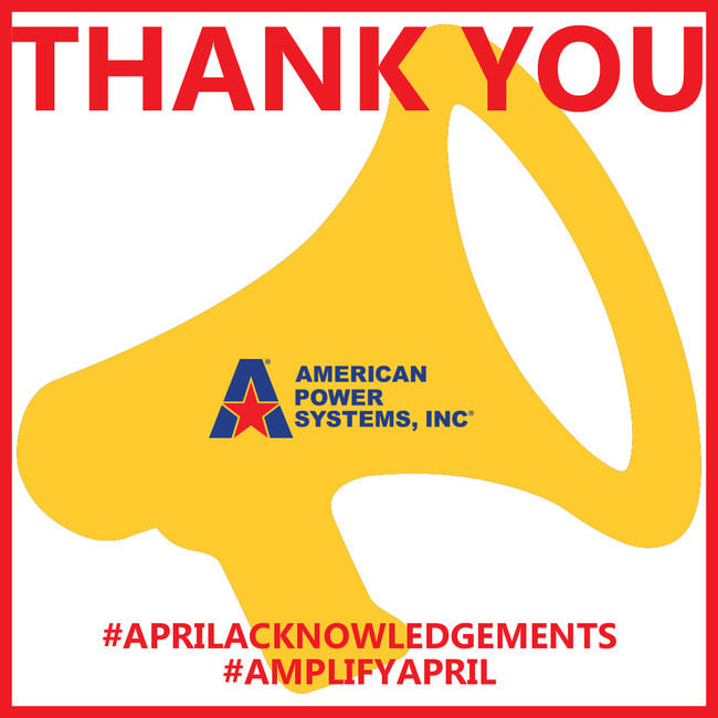 THANK YOU! April is about amplifying our APS partners