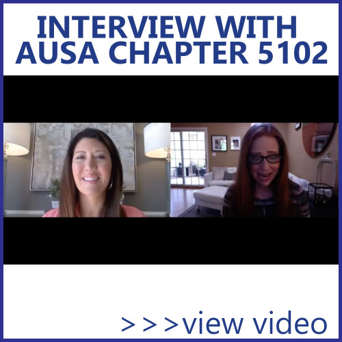 Watch AUSA Chapter 5102 president Julie Johnson's interview with APS president Amy Lank
