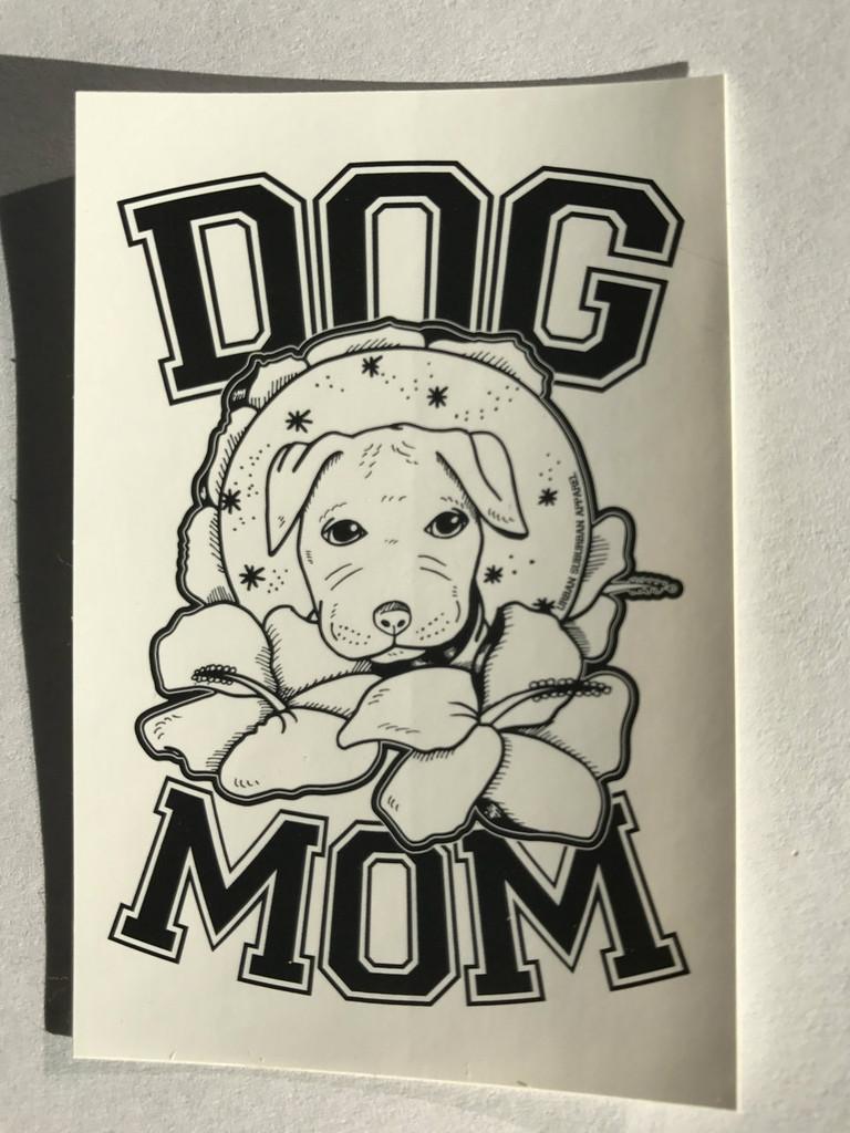 DOG MOM Stickers