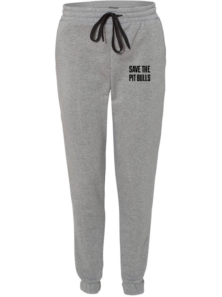 SAVE THE PIT BULLS Unisex Fleece Heather Gray Jogger