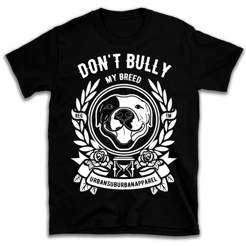 DON'T BULLY MY BREED B&W Unisex Black Tee