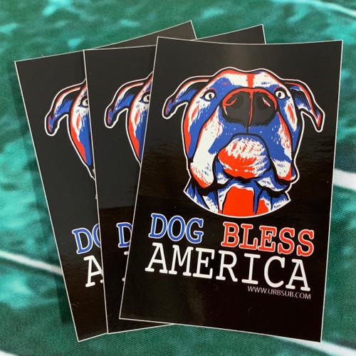 DOG BLESS AMERICA Sticker Pack
