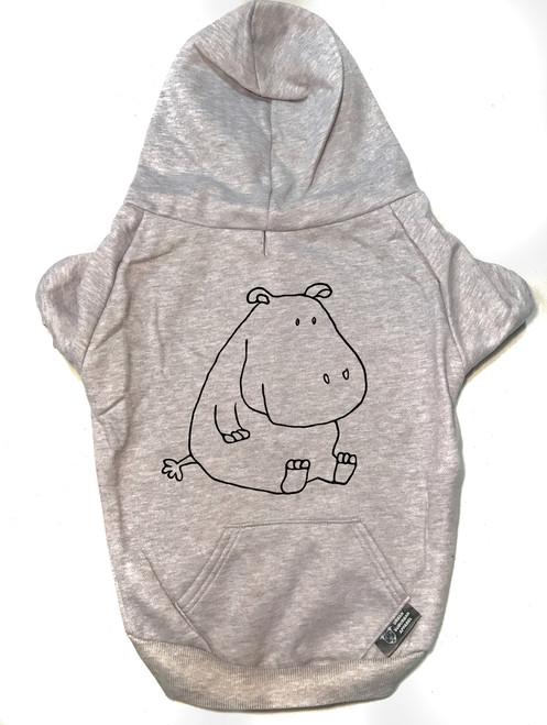 HIPPO Dog Zip-Up Hoody