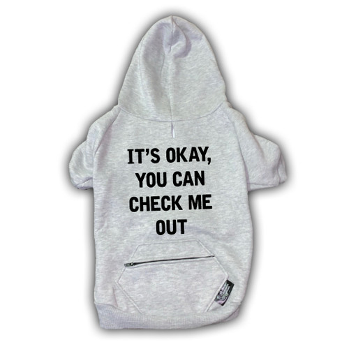 CHECK ME OUT Pocket Zip Dog Zip-Up Hoody