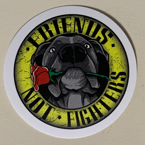 FRIENDS NOT FIGHTERS Sticker 3 Pack