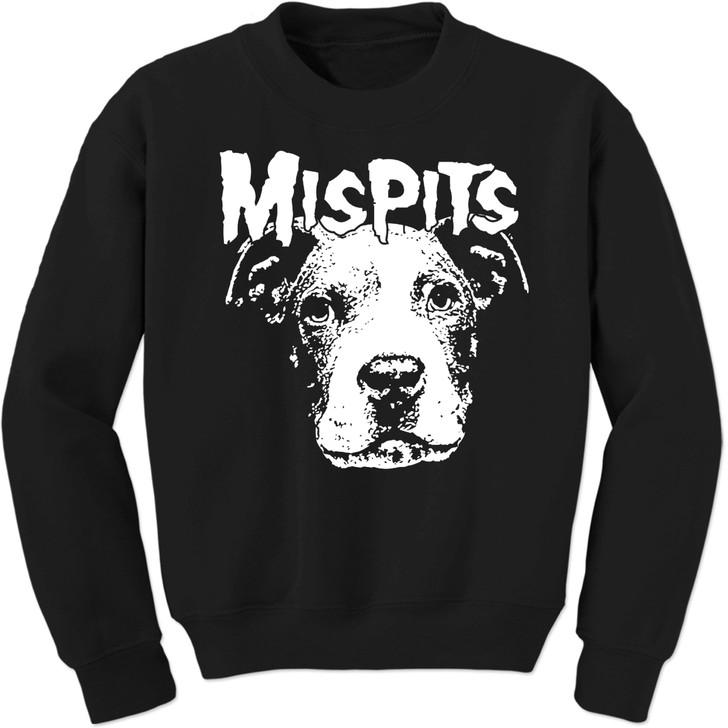MISPITS Unisex Crew Black Sweatshirt