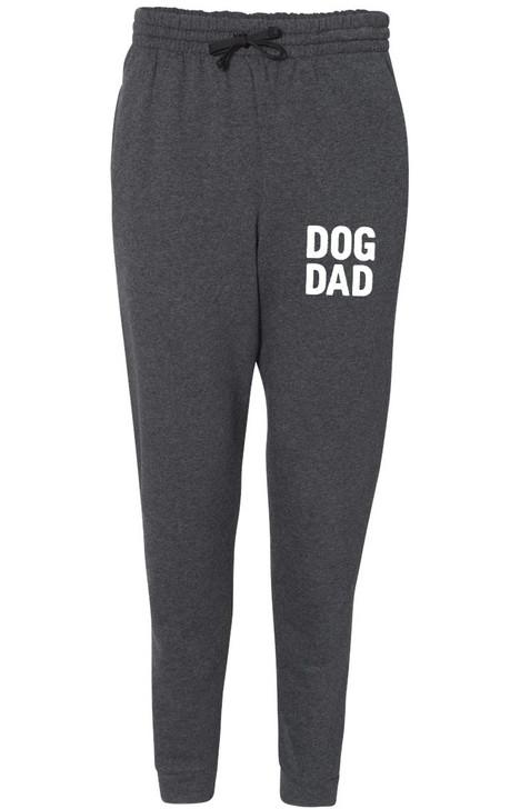 DOG DAD Unisex Fleece Black Heather Jogger