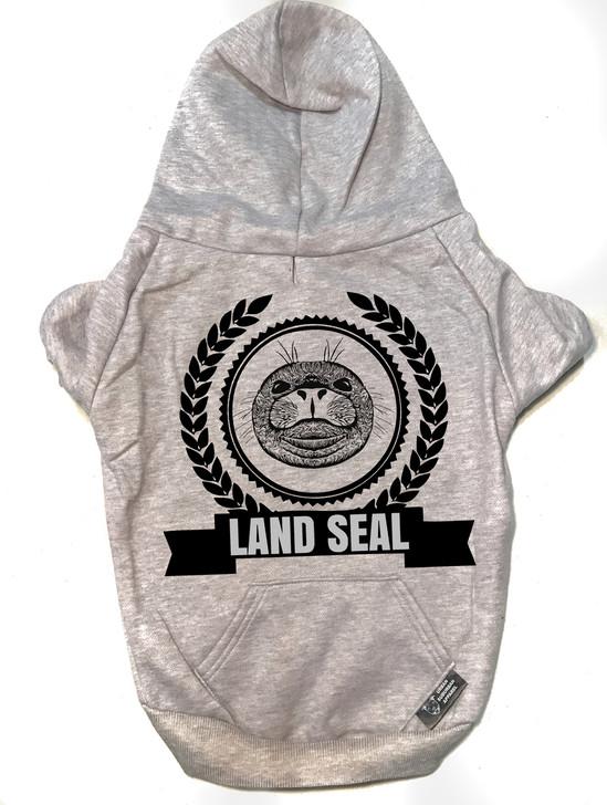 LAND SEAL Heather Gray Dog Zip-Up