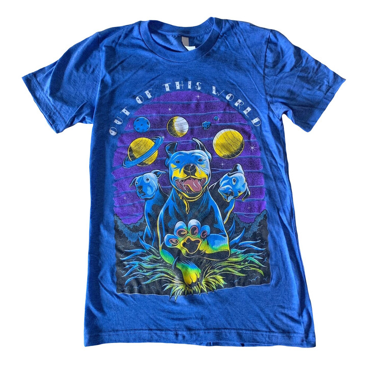 OUT OF THIS WORLD Unisex Heather True Royal Tee