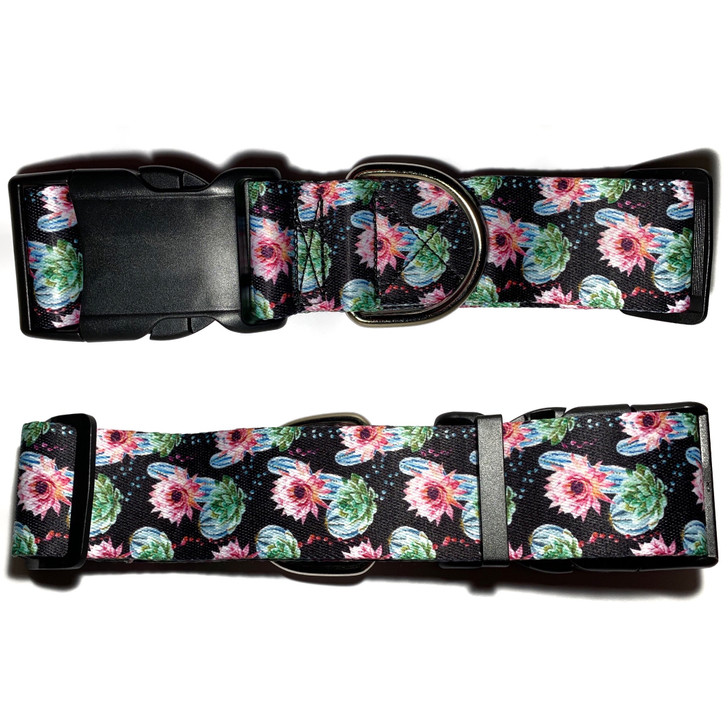 CACTUS FLOWERS Dog Collar