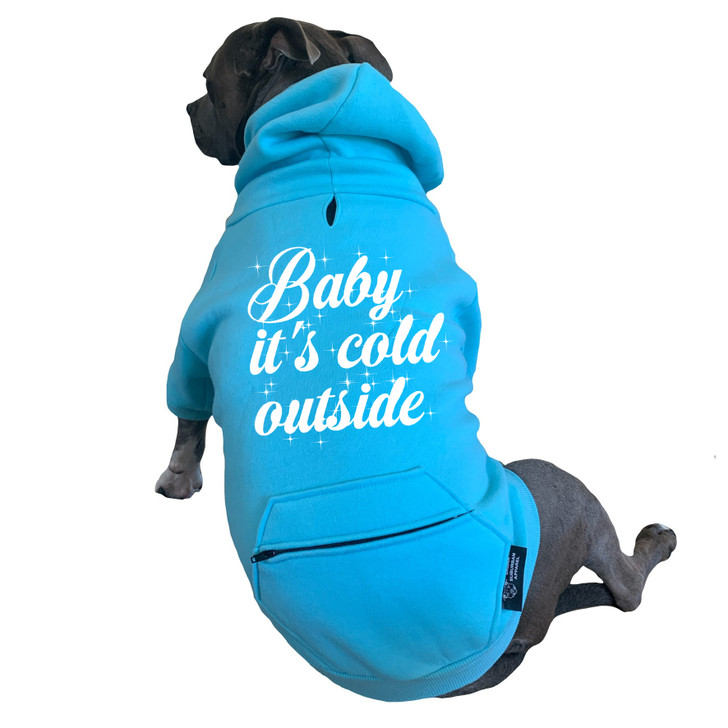 BABY IT'S COLD OUTSIDE Zip Pocket Dog Zip-Up Hoody