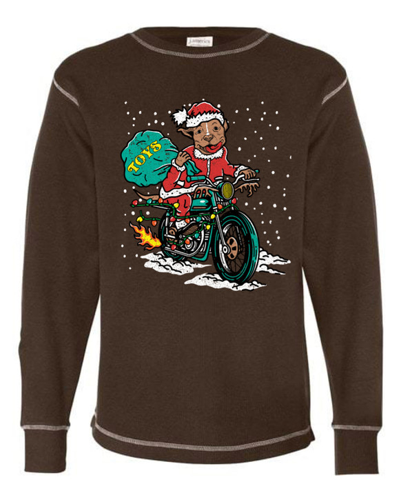 VINTAGE SANTA PAWS Unisex Thermal