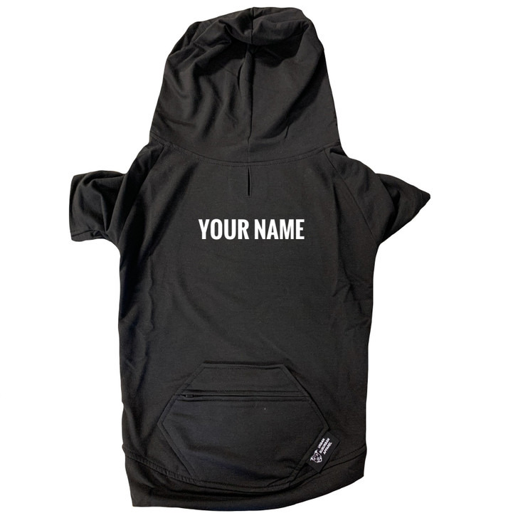 Custom Black Dog Zip-Up Hoody