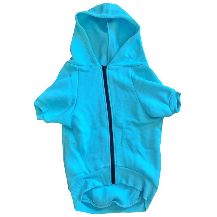Custom Blue Dog Zip-Up Hoody