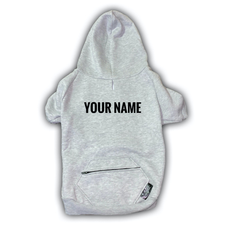 Custom Gray Dog Zip-Up Hoody