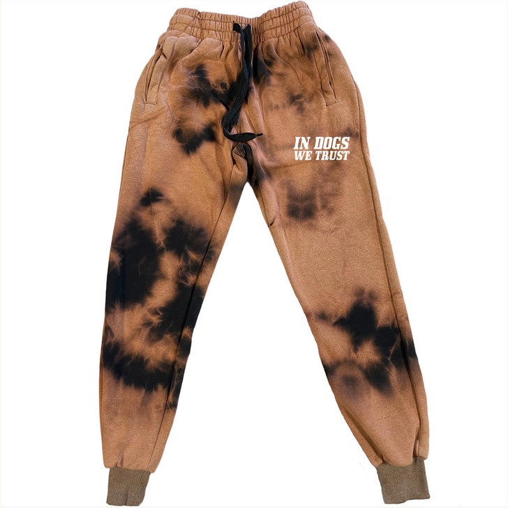 IN DOGS WE TRUST Bleach Dyed Jogger
