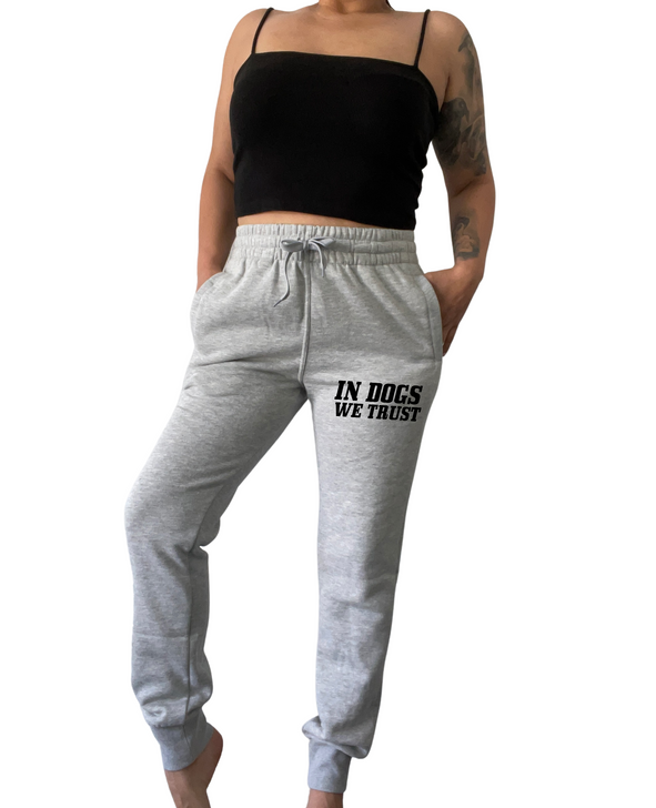 IN DOGS WE TRUST Unisex Heather Joggers